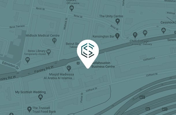 Map of Glasgow Construction Recruitment office